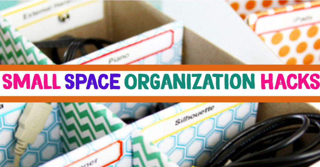 Storage Solutions For Small Spaces - Small Room organization Hacks, Tips, Tricks and Organization ideas for the Home