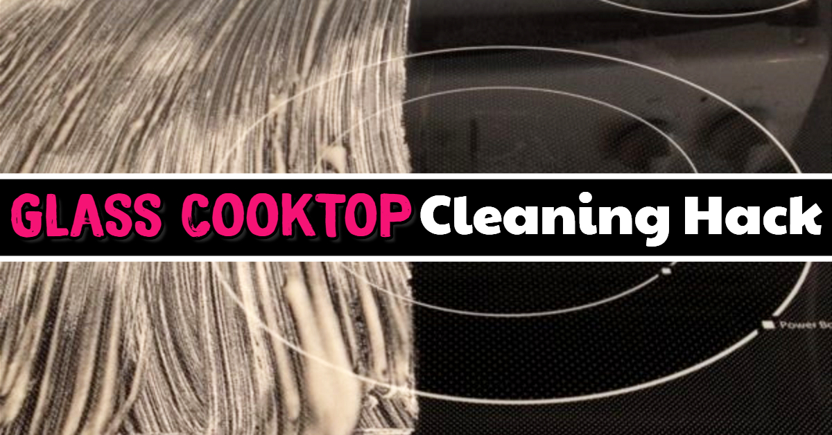 Clean Glasstop Stove the EASY Way - How to clean glass cooktop, black glass stove top tips and tricks (removes burnt on messes too!)