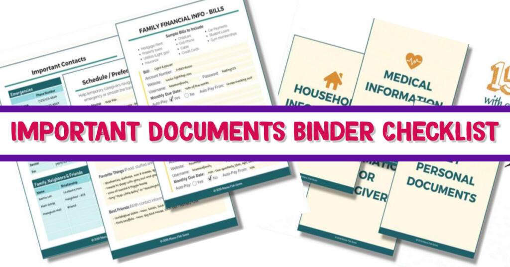 How To Organize Important Documents in an Emergency Binder or Household Notebook