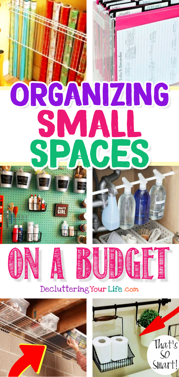Organizing Small Spaces on a Budget - Small Space Organization Hacks