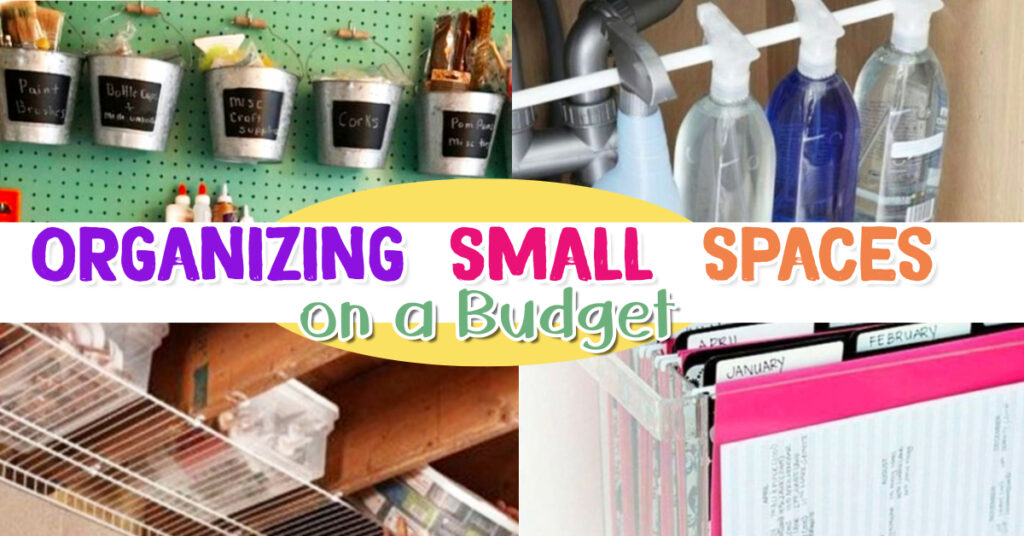 Organizing Small Spaces - Small Space Storage hacks on a Budget