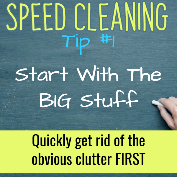 Where to START cleaning a messy house when you want the fastest way to clean your house. Try these speed cleaning tips and cleaning hacks.