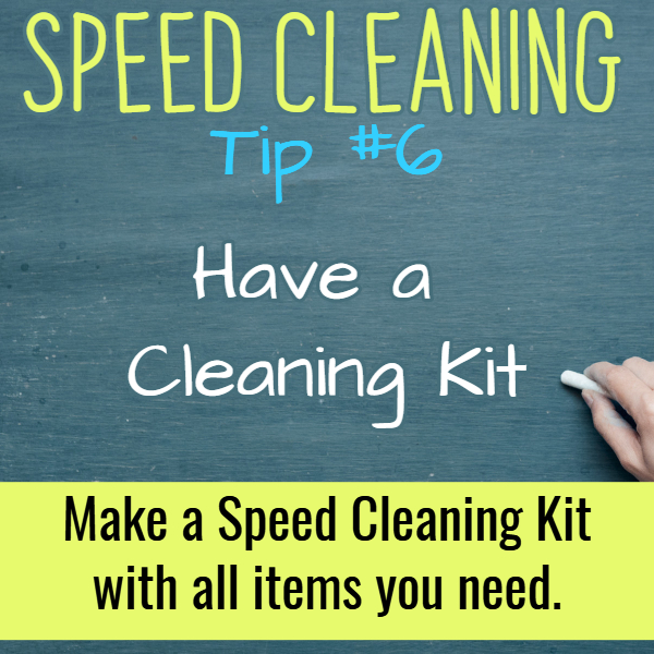 Speed cleaning tips - need to speed clean your house for company or guests - or just need to clean your messy house? Try these speed cleaning tips, checklist and speed cleaning hacks.