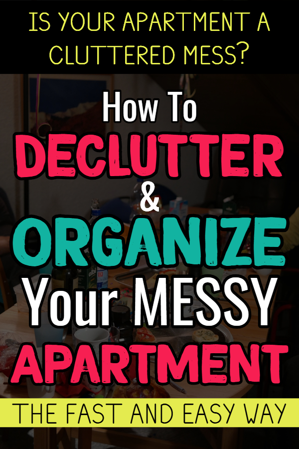Apartment cleaning hacks - if you're overwhelmed with the clutter in your messy apartment, try these apartment cleaning hacks to declutter and organize your apartment. These apartment organization ideas and decluttering ideas will get your apartment neat, clean and clutter free in no time. Small apartment organization hacks, small apartment bathroom ideas and more DIY apartment ideas to get organized and STAY organized.