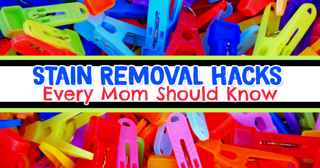 Stain removal hacks and stain removal technique - if you're removing stains from clothes that have been dried or stain removal from carpet - this stain removal guide is full of stain removal hacks - even to remove set in stains. Also our favorite stain removal products.