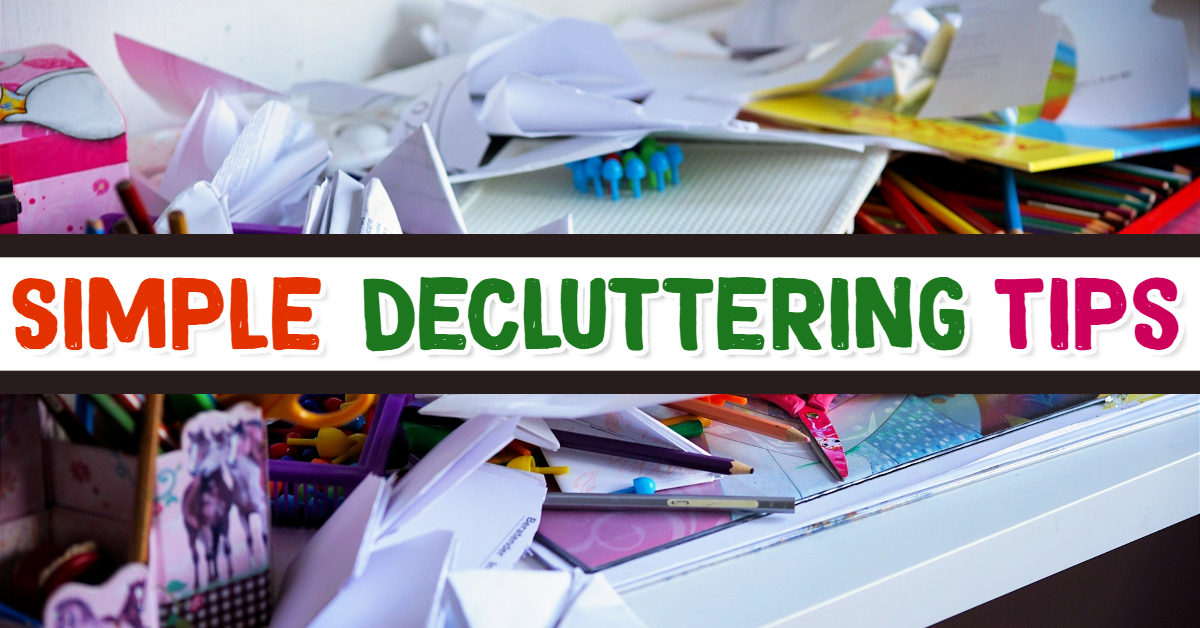 Simple decluttering tips to get organized at home and declutter your life. Organization hacks that work!