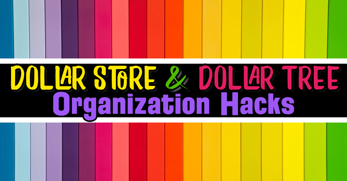 13 dollar store organizing hacks- dollar tree hacks 2019