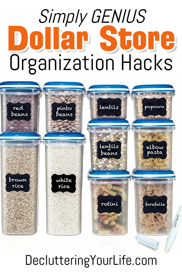 Dollar Store Organization Ideas and Budget Organizing Hacks • Dollar Store organizing on a budget! ST1162019 Dollar Tree organization ideas including bathroom organization ideas, closet organization ideas, drawer organization, closet hacks and more cheap ways to get organized at home on a budget