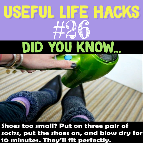 Simple little hack to make your too-small shoes fit.. Useful life hacks to make life easier - household hacks... MIND BLOWN!