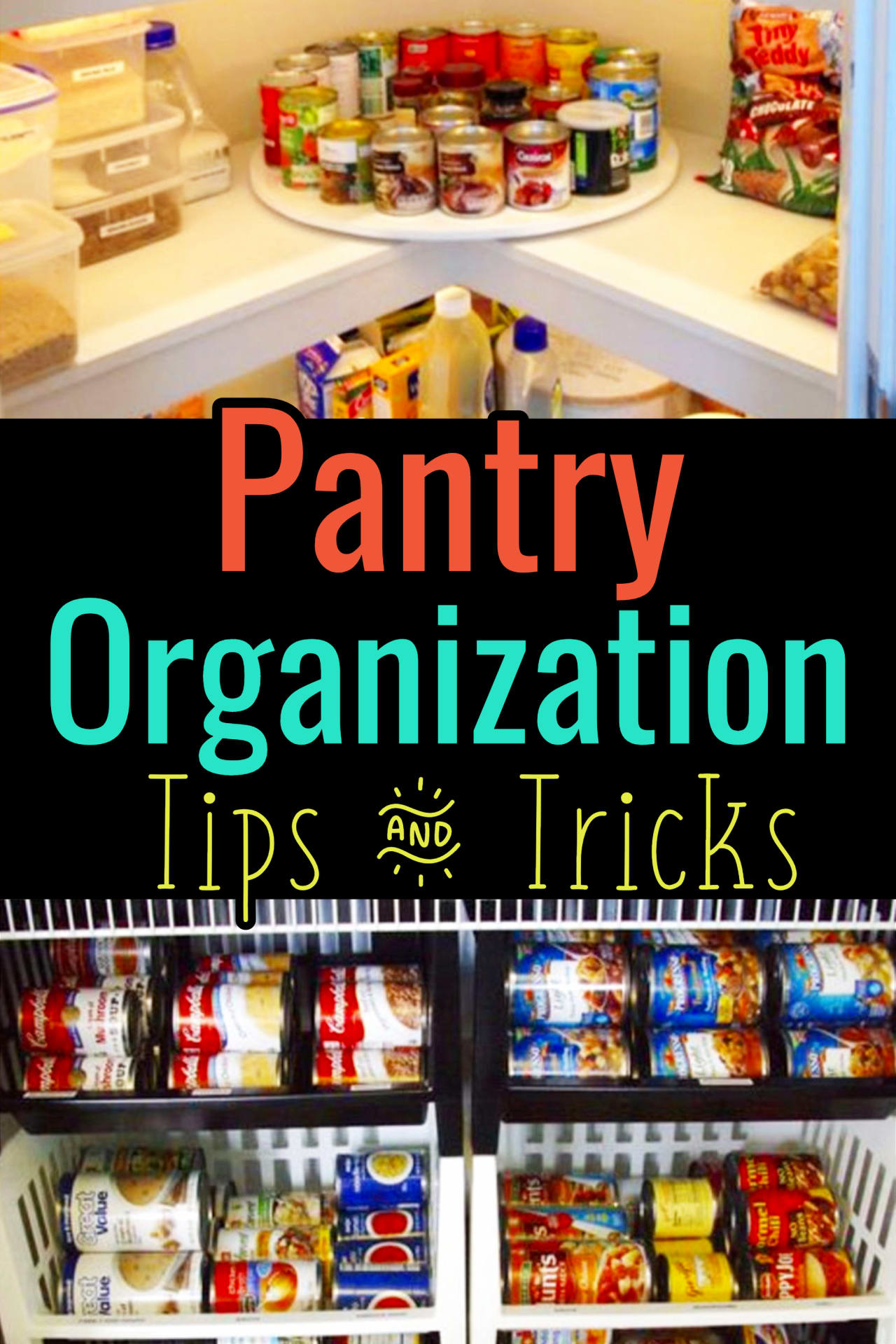 Pantry Organization! Declutter and organize your kitchen pantry with these pantry organization tips and tricks.  The pantry attracts so much clutter here's how Professional Organizers get organized in kitchen pantry areas (put this in your printable household notebook!)