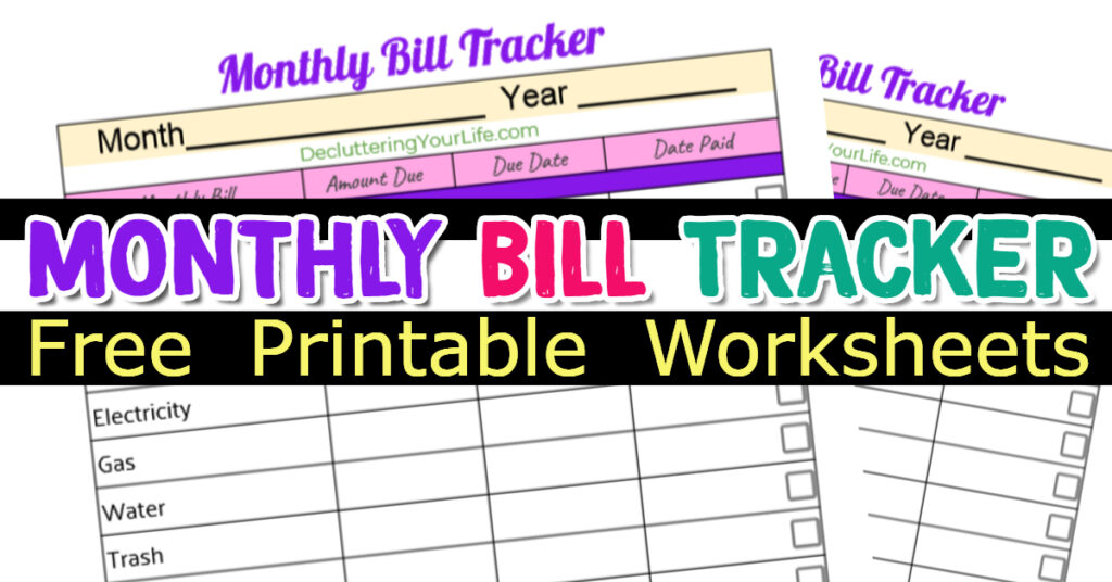 My Personal Bill Payment Tracker and Bill Tracker Template - Sure, you COULD organize bills online or use an bill organizer app, but if you want to really track your expenses and payments due, this bill payment tracker and spreadsheet to keep track of bills is much easier. My bill payment tracker pdf is free and is the best way to organize bills and papers from your monthly household expenses - even if you're paying bills online or using a bill payment organizer app