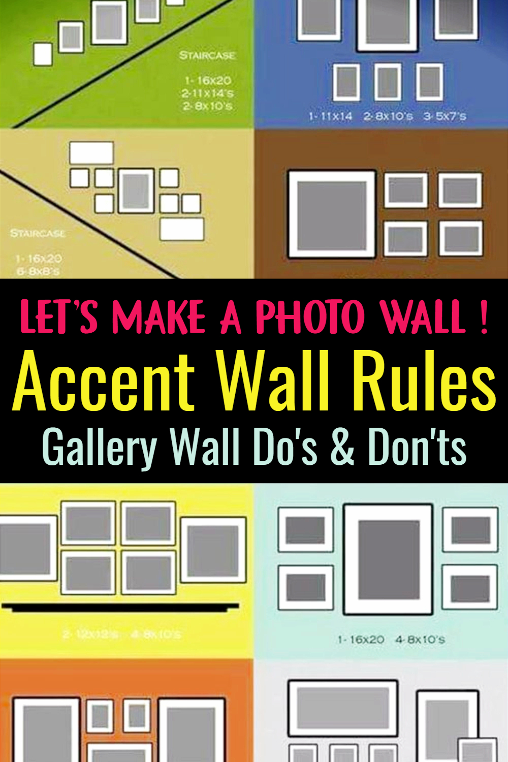 Accent Walls Rules for Creating a Photo Accent Wall - Images of Accent Walls and Accent Wall Ideas, Dos and Don'ts - PICTURES living room accent wall with brown furniture - decorating ideas for tv wall - accent wall paint pattern ideas - how to choose an accent wall in living room - examples of accent wall color combinations- gallery wall dos and donts - learn how to make a photo wall in your room and how to create a gallery wall around tv