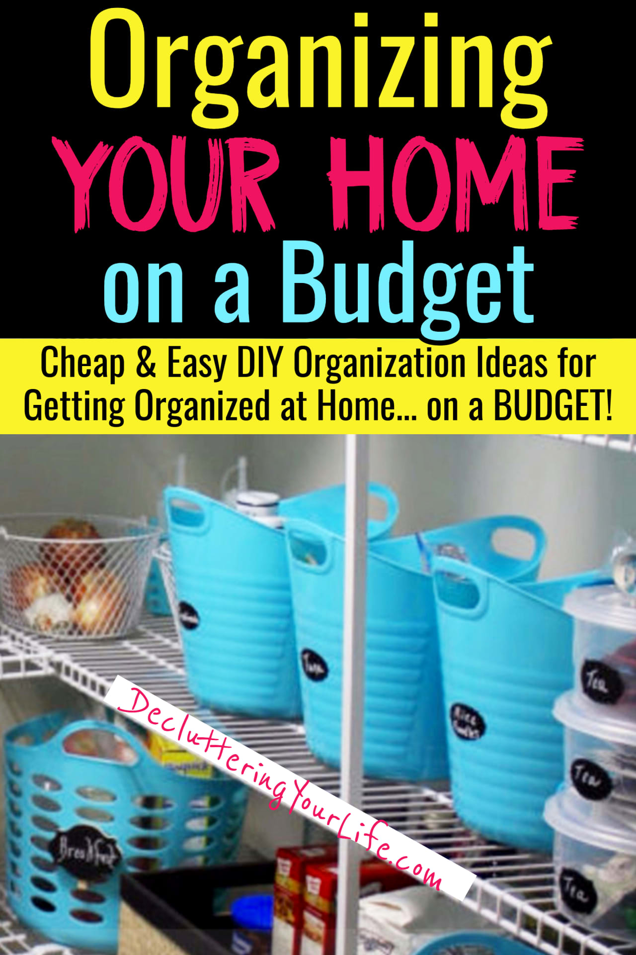 Dollar Store Organizing on a Budget