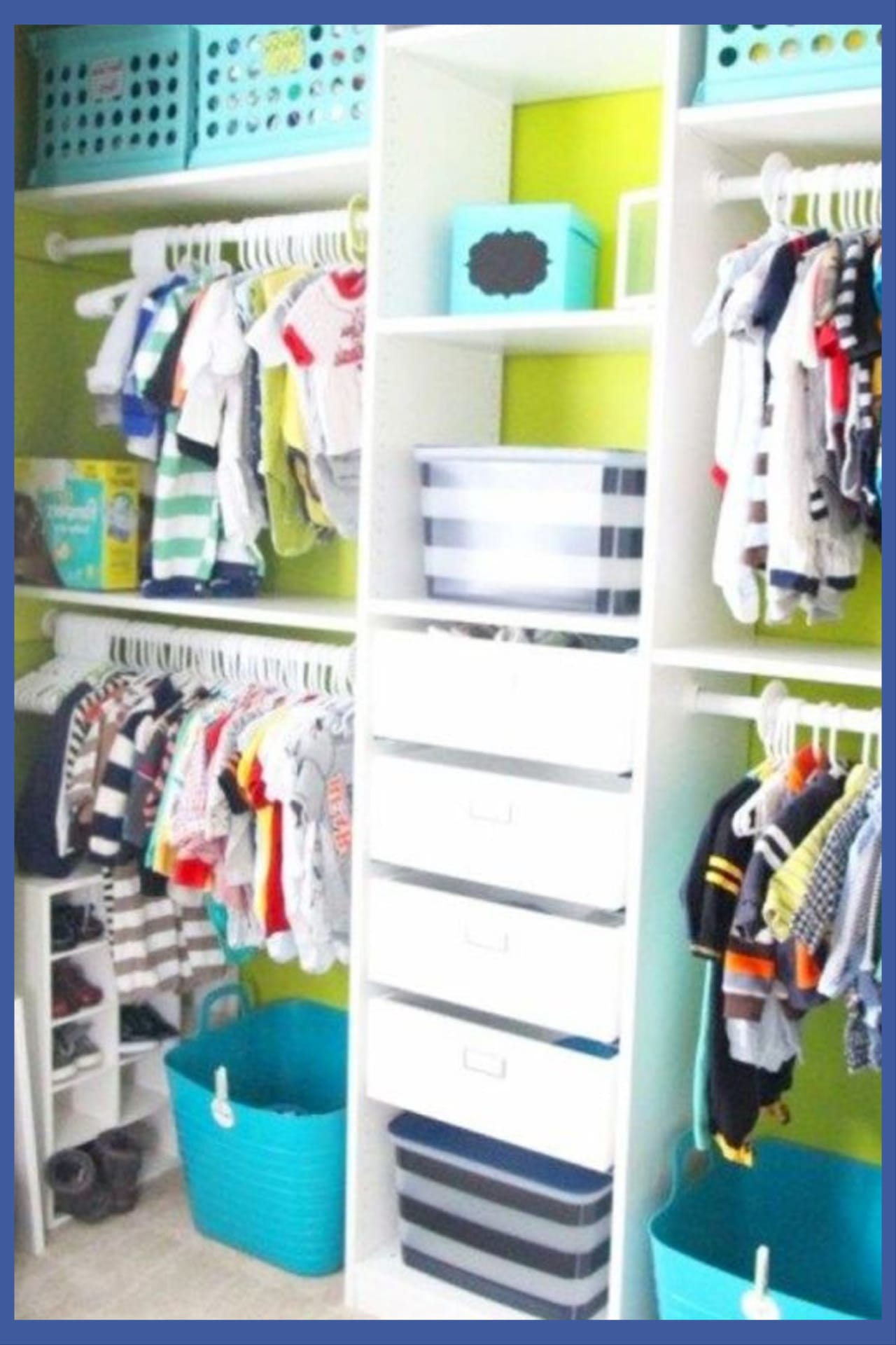 Organization Ideas for the Home - closet organization ideas - DIY baby closet organization and baby closthes organization ideas - creative nursery closet organization ideas