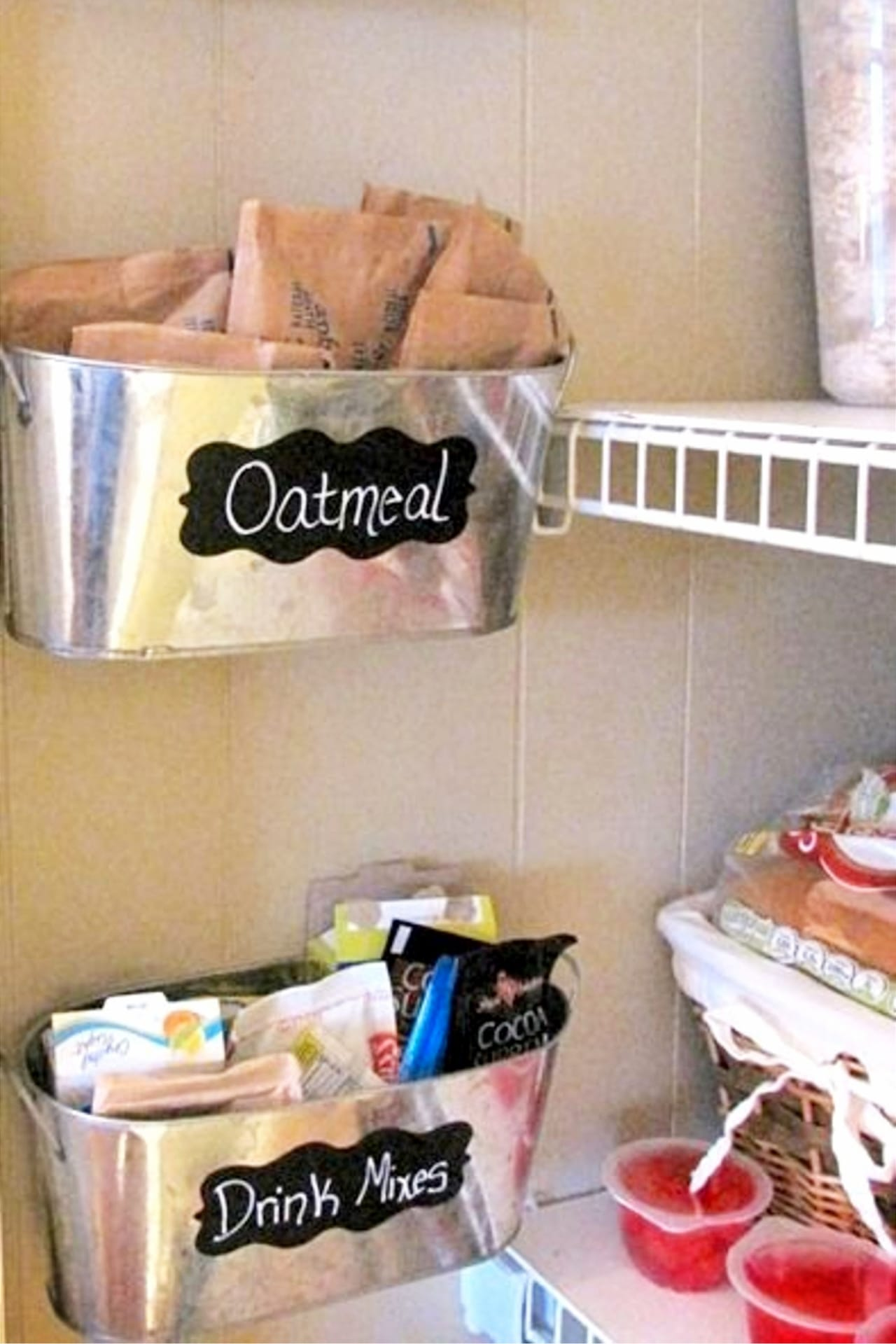 cheap pantry organizing ideas - Organize with household items, dollar tree items and everyday objects