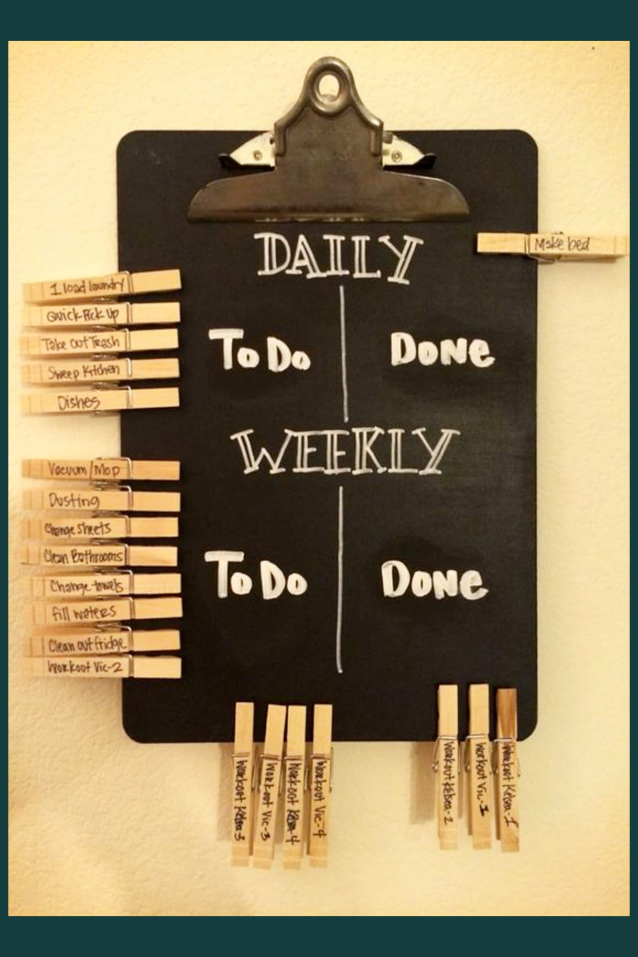 Daily chores to keep house clean - Organize with household items, dollar tree items and everyday objects - kids chore boards and chore charts