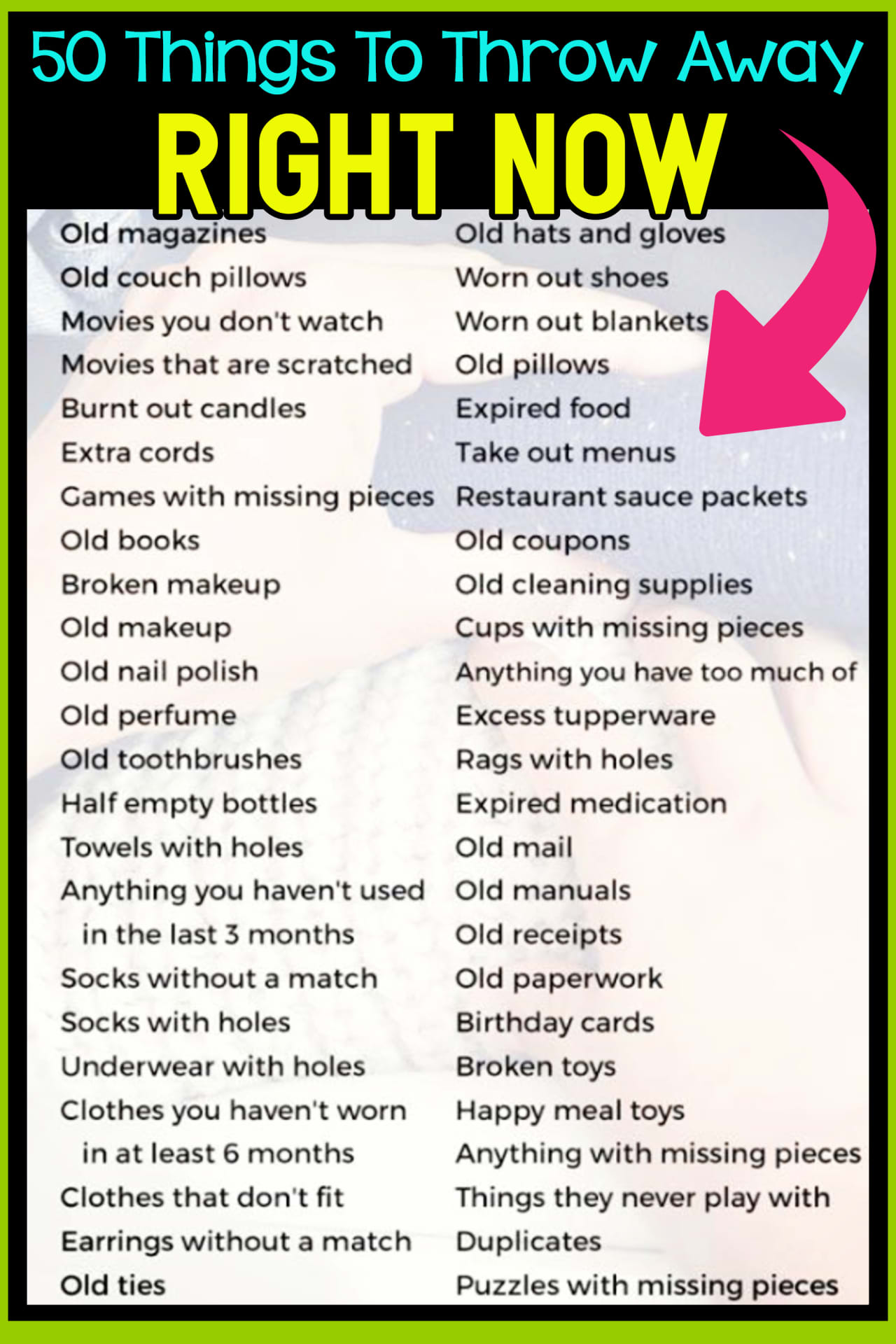 Trying to declutter and organize your home but feel SO overwhelmed?  Here's a simple decluttering checklist to get rid of the clutter.  UNcluttering your clutter is THE best cheap organizing idea ever! You can't organize like a pro until you DECLUTTER your home.