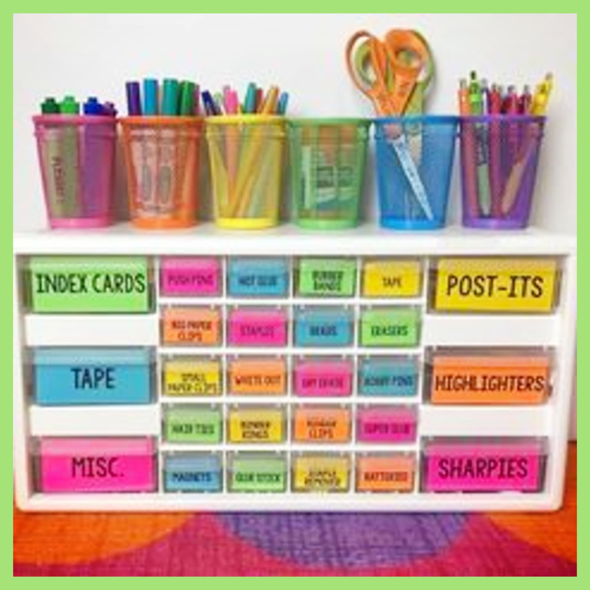 Declutter and organize! Organize with household items, dollar tree items and everyday objects