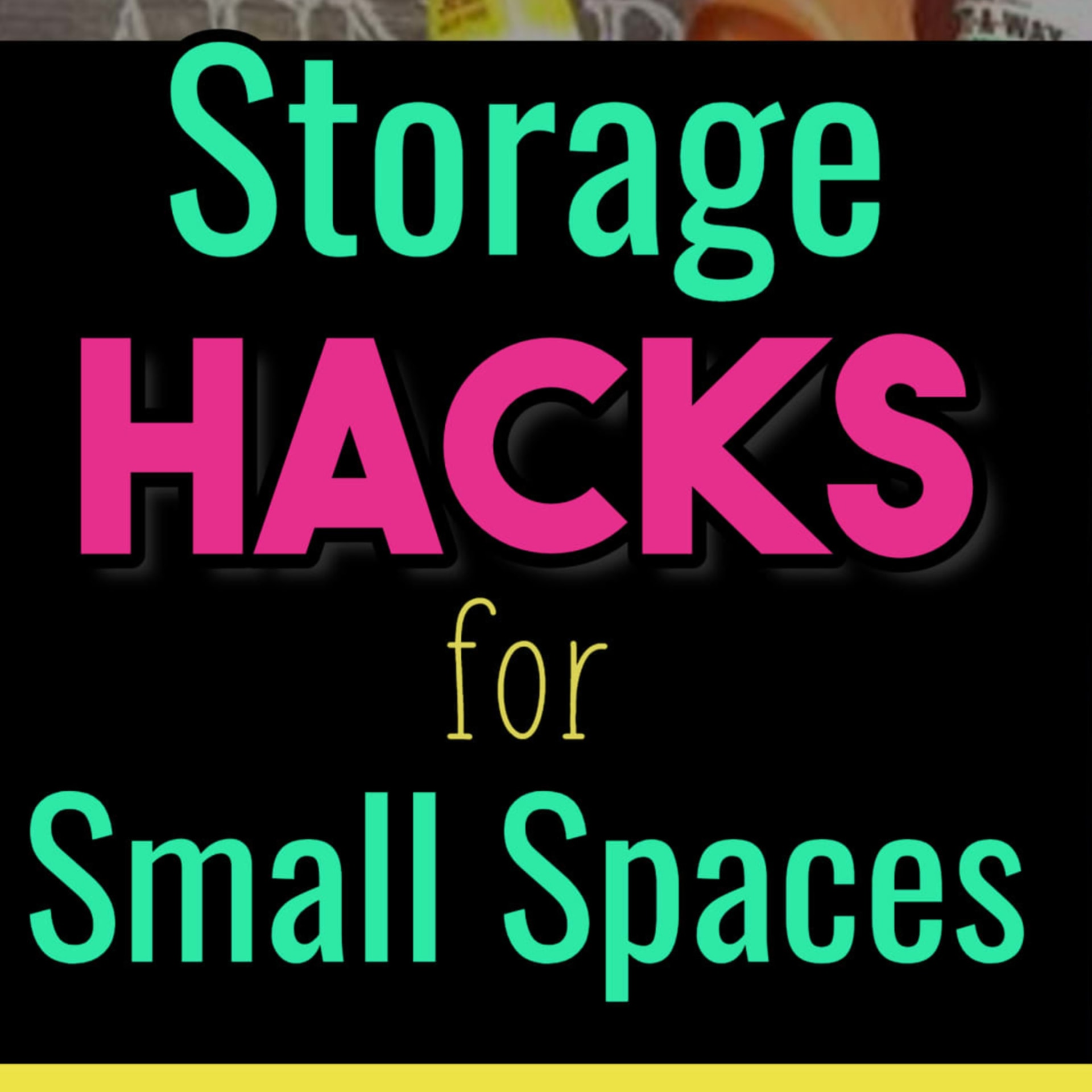 Simple storage and clutter solutions for small spaces.  Creative home organization hacks for organizing small spaces on a budget