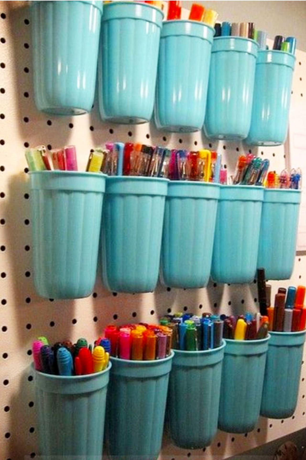 Dollar Stores Organizing - Craft room ideas on a budget with Dollar Store and Dollar Tree items and organizers - creative ways to organize your craft room wall
