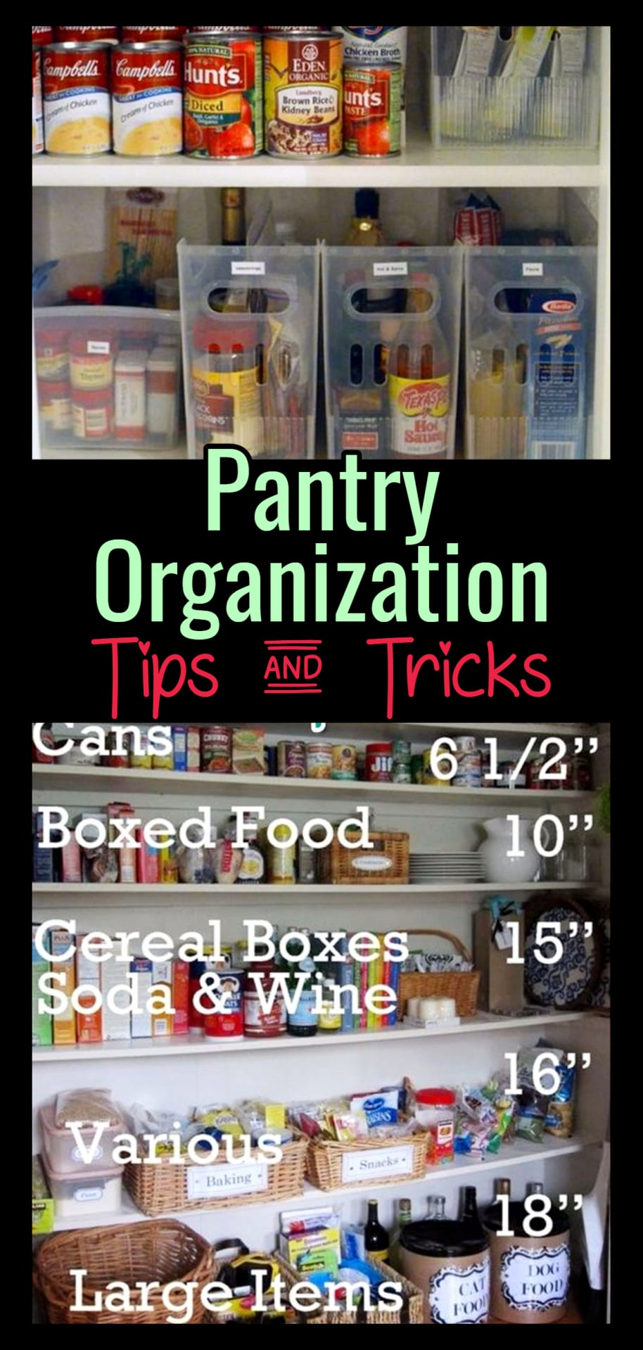 Declutter pantry tips - how to organize home pantry for a beautiful organized pantry on a budget