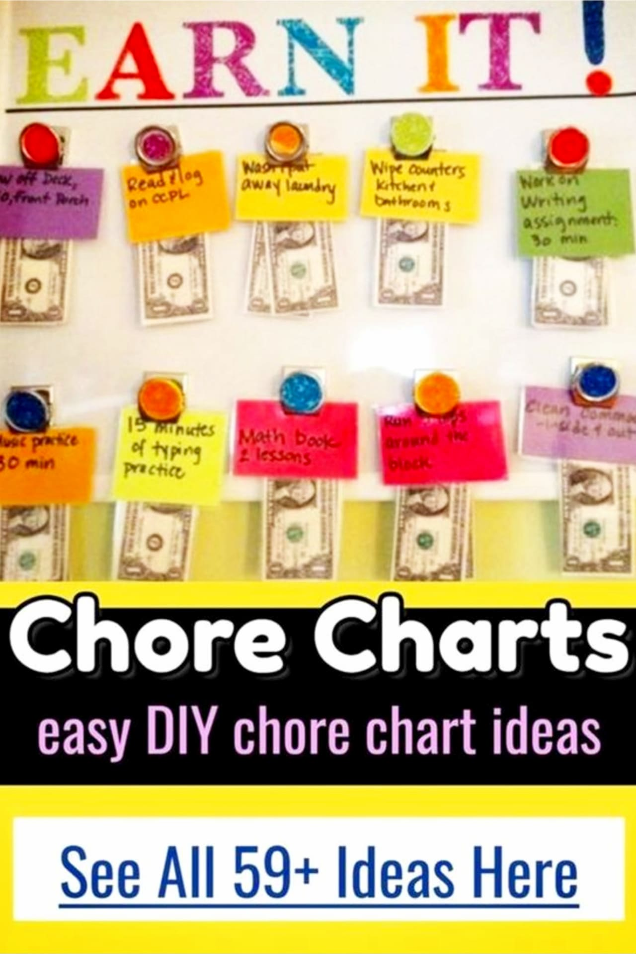 chores for kids by age - printable allowance chore chart ideas - rewards for doing chores around the house ( organized mom hack!)