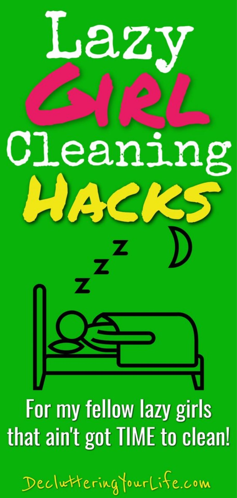 lazy girl cleaning hacks, tips and cheat sheets - useful cleaning life hacks for lazy people