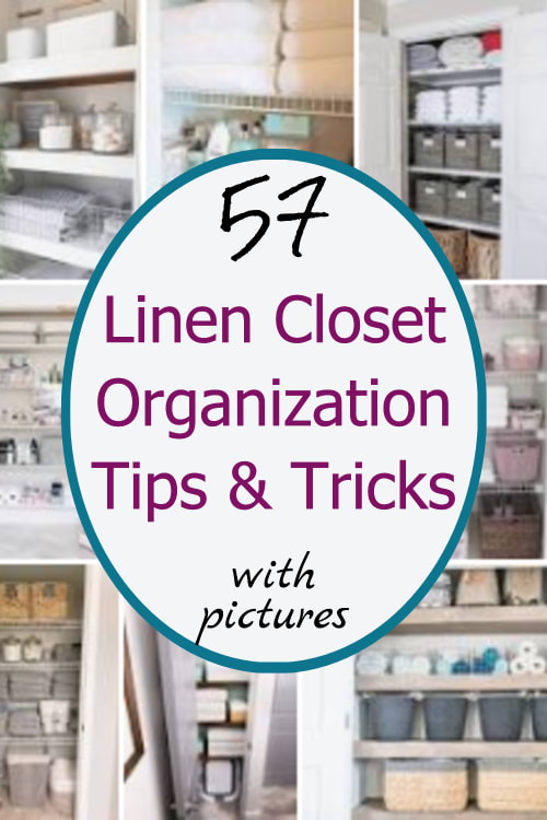 Linen Closet Storage and Organization HACKS! Ready to finally organize your linen closet?  These linen closet organization ideas are creative and BRILLIANT! See these ideas for using linen closet storage bins and baskets, how to organize a deep linen closet OR a small linen closet.  These bathroom linen closet organization tips and tricks really work to declutter your linen closet!