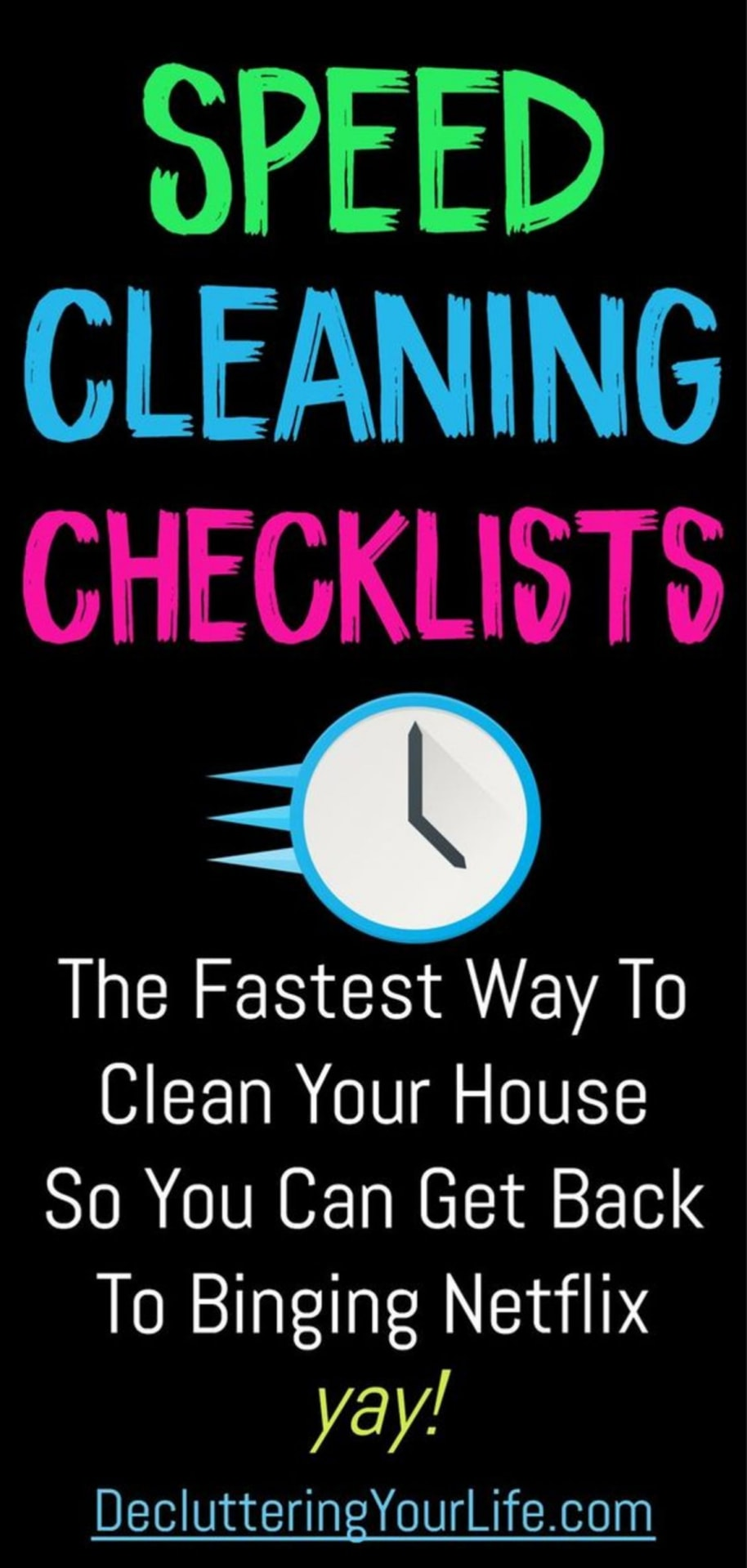 speed cleaning checklists
