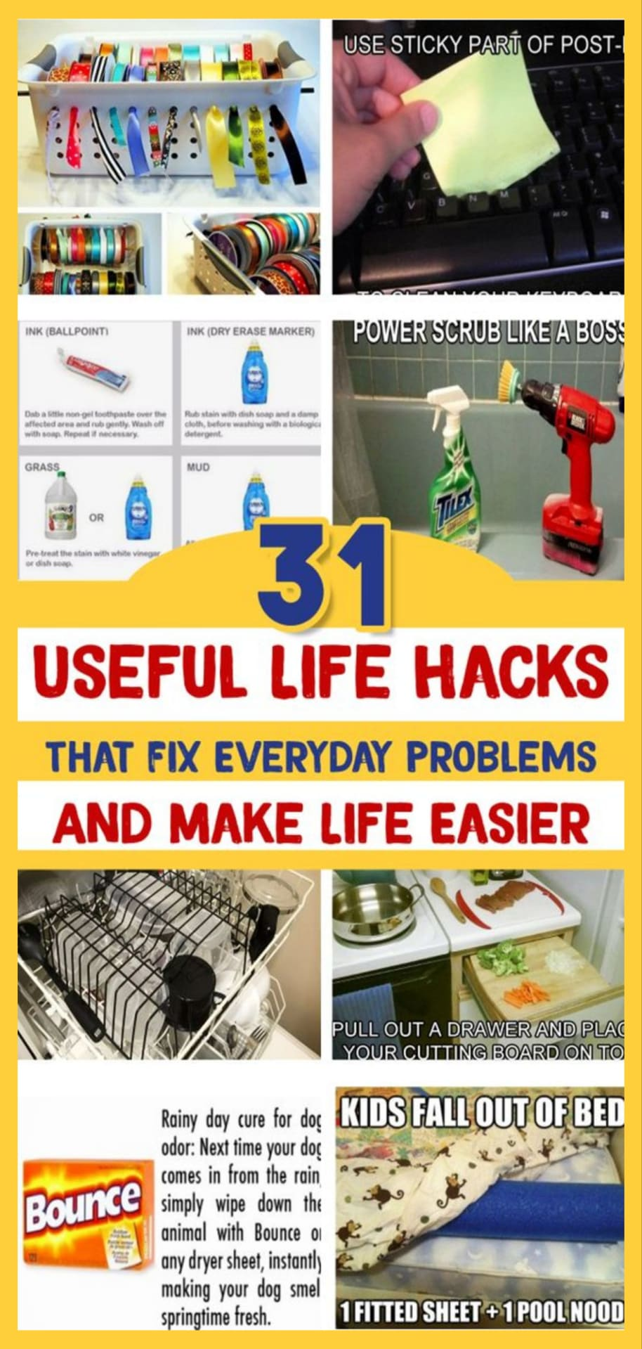 Useful Life Hacks - MIND BLOWN!  Households life hacks and good to know hacks tips and lifehacks - these household hacks, cleaning tips & tricks are such helpful hints and life changing lifehacks every girl should know. Smart Tips for Everyday Life!  These real life hacks and cheats are simple life hacks to use around the house. Useful life hacks that fix everyday problems and make life easier.  Cleaning hacks, Household hacks, life hacks mind blown and life hacks for home organization.  Life hacks for home and cool household hacks, tips and tricks.
