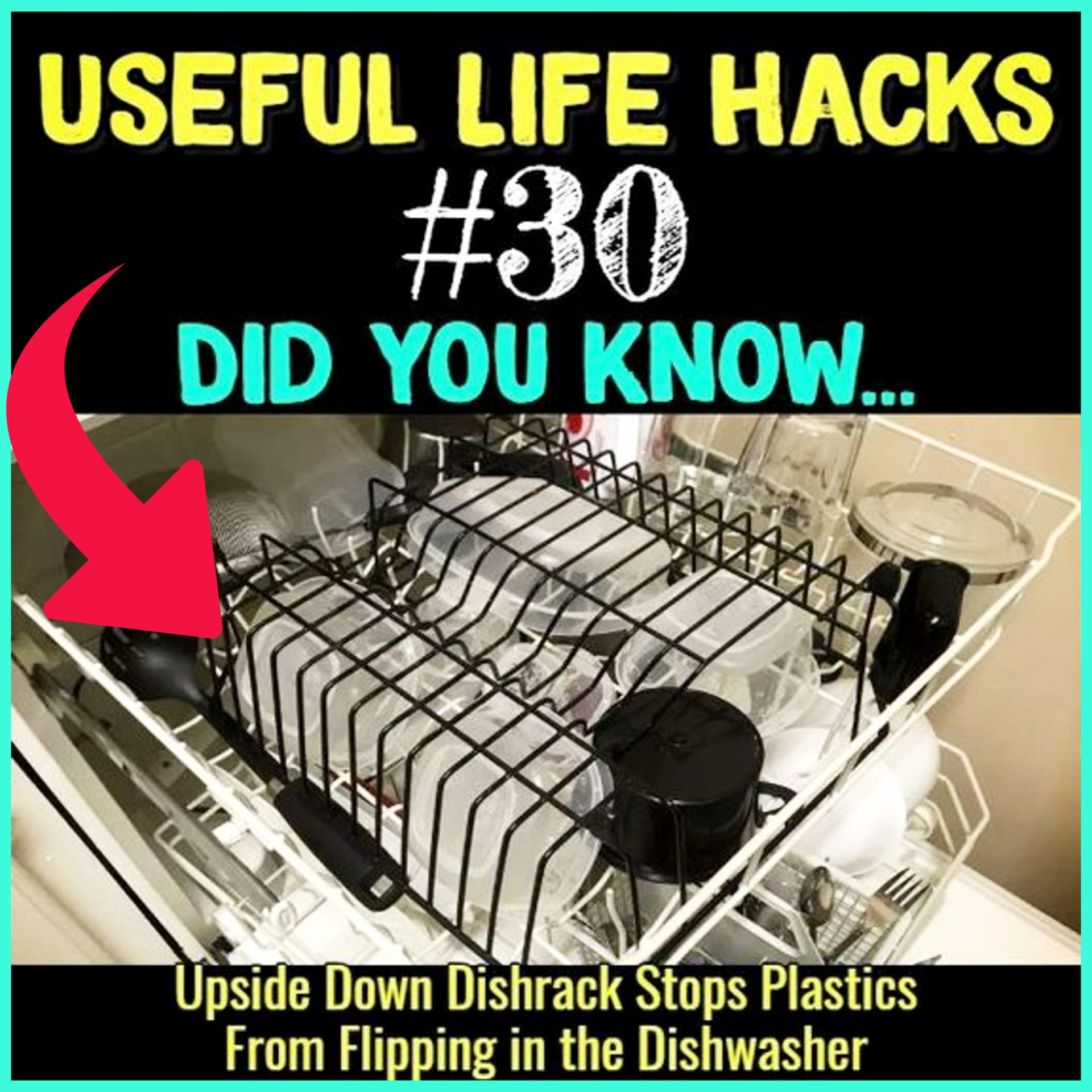 Useful Life Hacks - MIND BLOWN!  Households life hacks and good to know hacks tips and lifehacks - these household hacks, cleaning tips & tricks are such helpful hints and life changing lifehacks every girl should know.  This dishwasher hack is so clever!