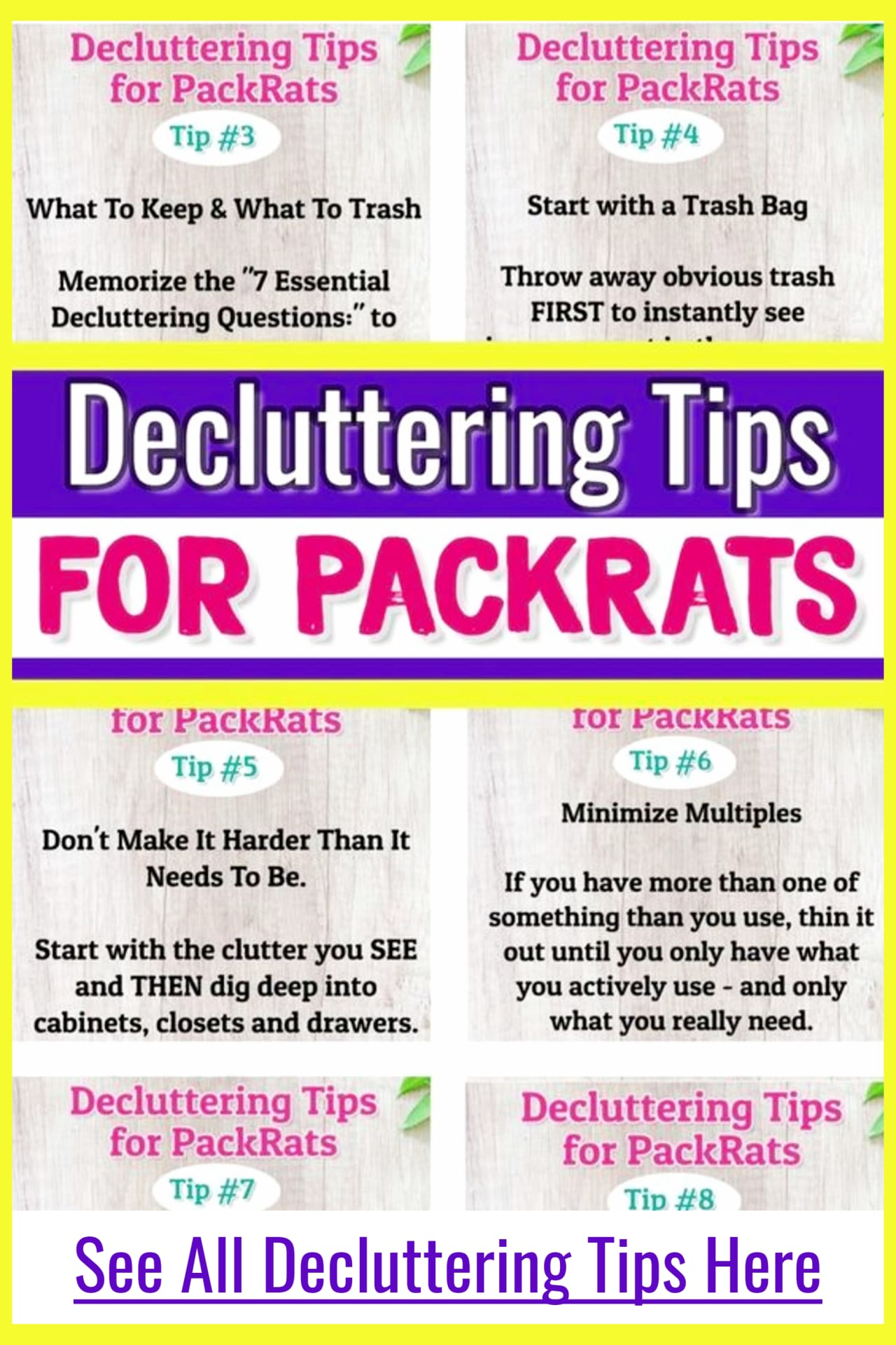 Decluttering tips and Organizing Ideas For The Home - Decluttering Ideas if you're feeling overwhelmed - where to start decluttering and organizing your messy house - decluttering step by step to declutter and organize without feeling overwhelmed