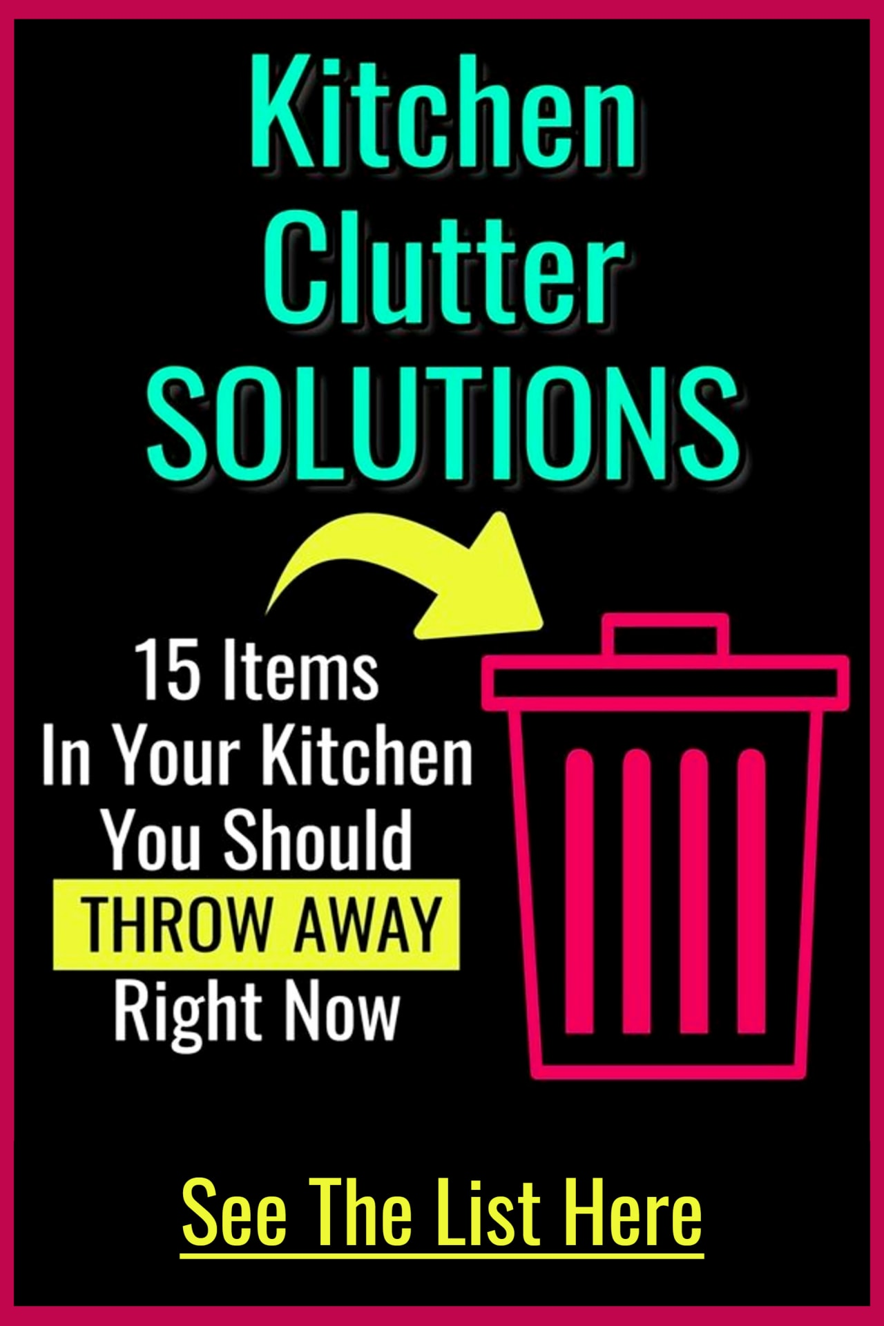 Kitchen Clutter Control CHALLENGE - Declutter Challenge - this Clutter challenge will have your decluttering and organizing your home without feeling overwhelmed. Declutter cheat sheet for a declutter challenge to declutter your kitchen