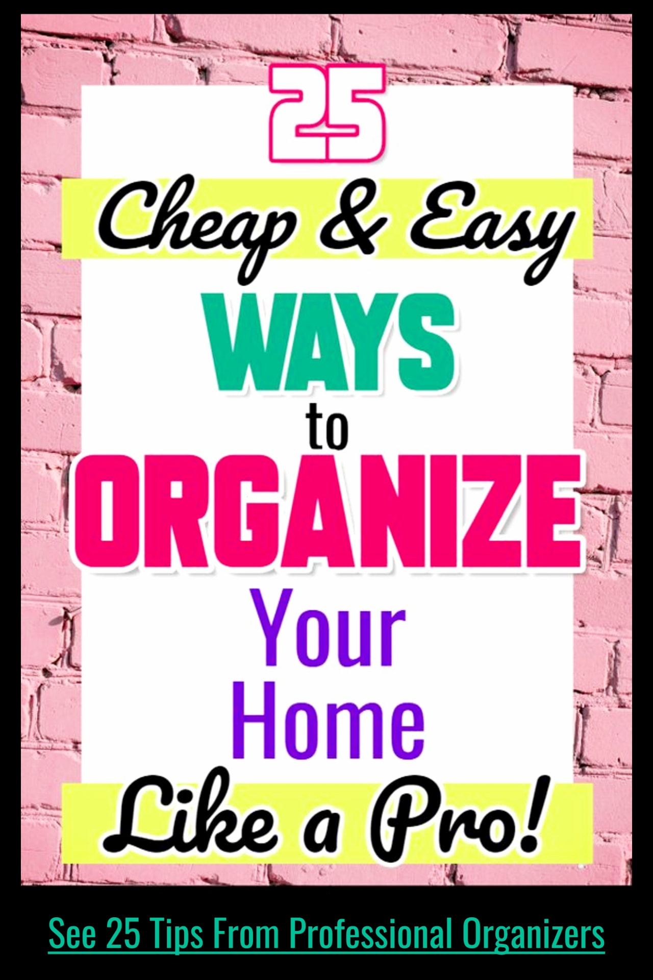 Organizing your home on a budget - declutter challenge! declutter and organize your entire home in one hour a day like professional organizers without feeling overwhlmed! Cheap decluttering ideas and organizing tips and tricks.  Home organization hacks that work!