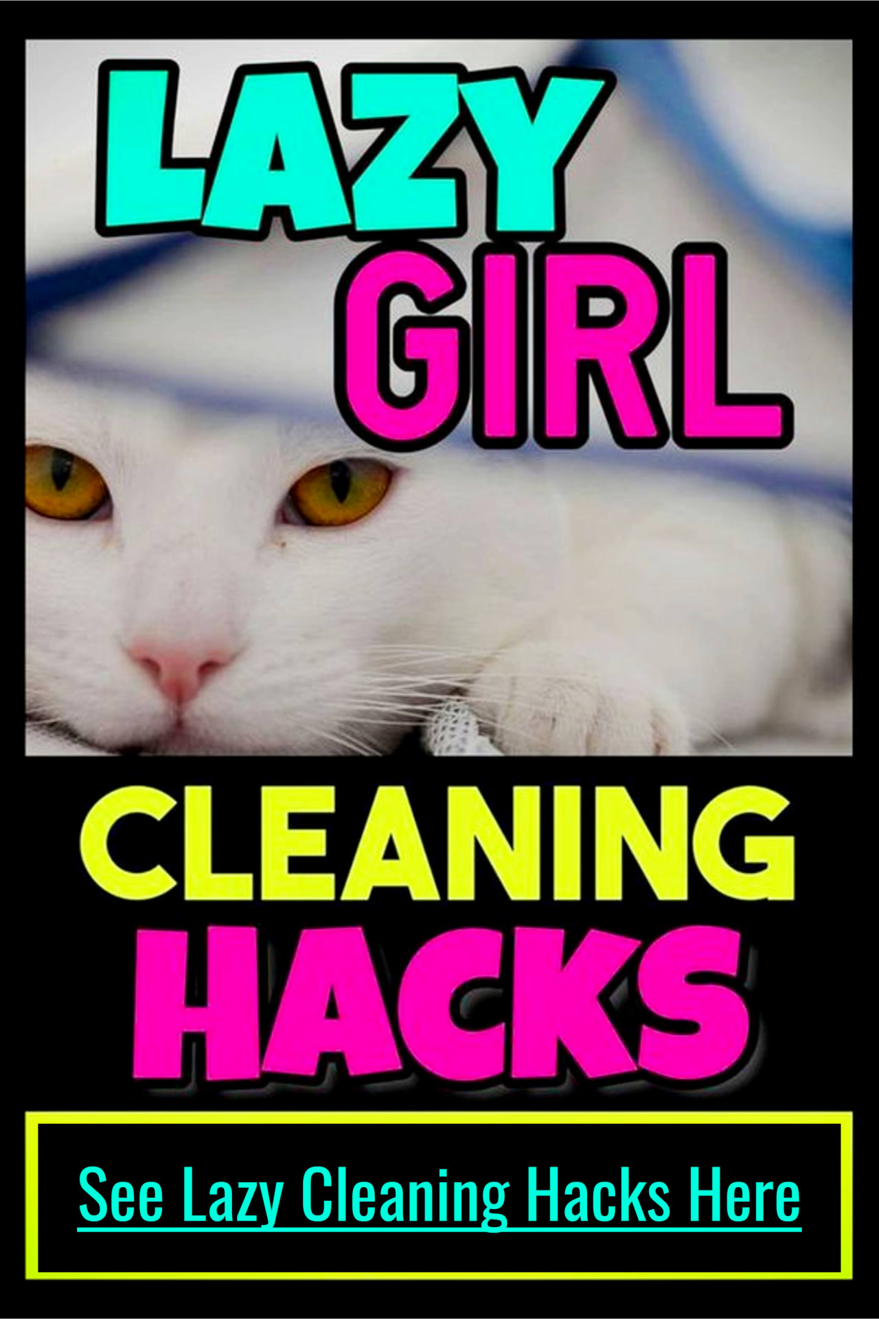 Lazy cleaning tips and cleaning hacks to clean a messy cluttered house FAST - even if feeling overwhelmed