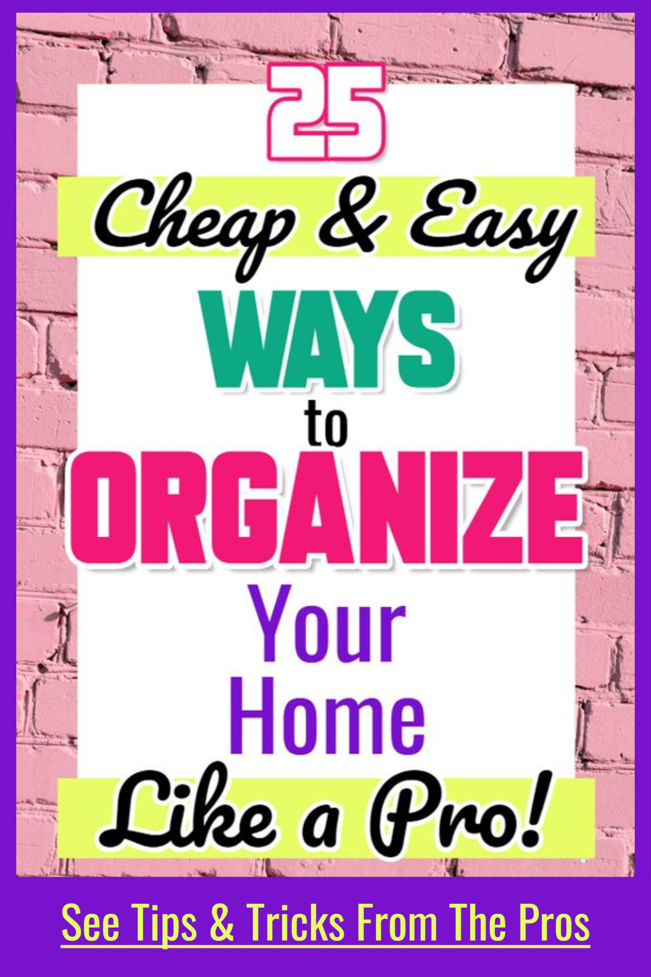 Cleaning tips and tricks from professional organizers to help you declutter and organize your home on a budget even if feeling overwhelmed with no motivation