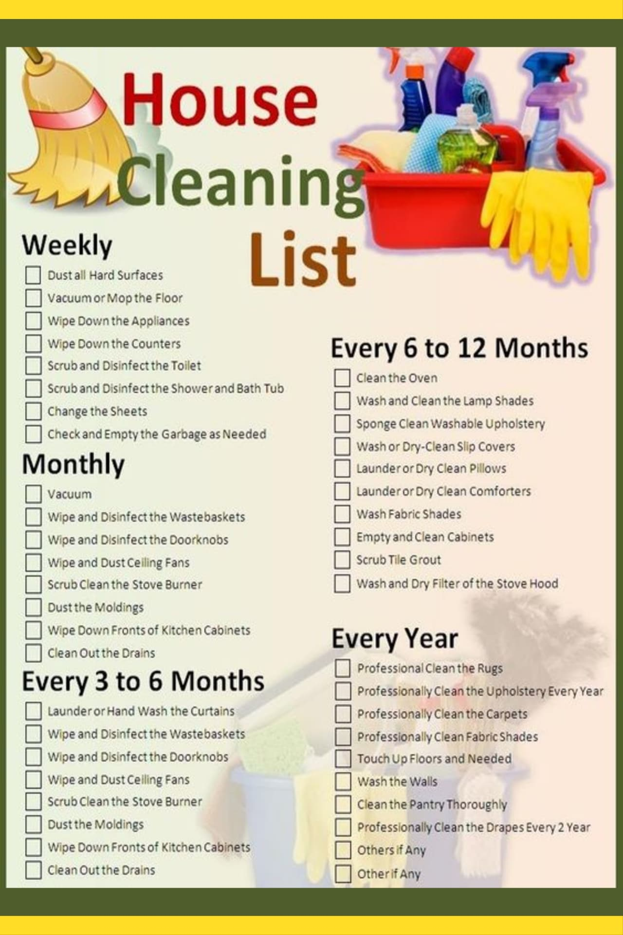 How to clean house like a Pro - or like a maid - quickly clean house top to bottom with these house cleaning schedules and checklists even when overwhelmed or with kids or with NO motivation to clean at all. clean your house like a pro in one day - yes FAST with these house cleaning tips.