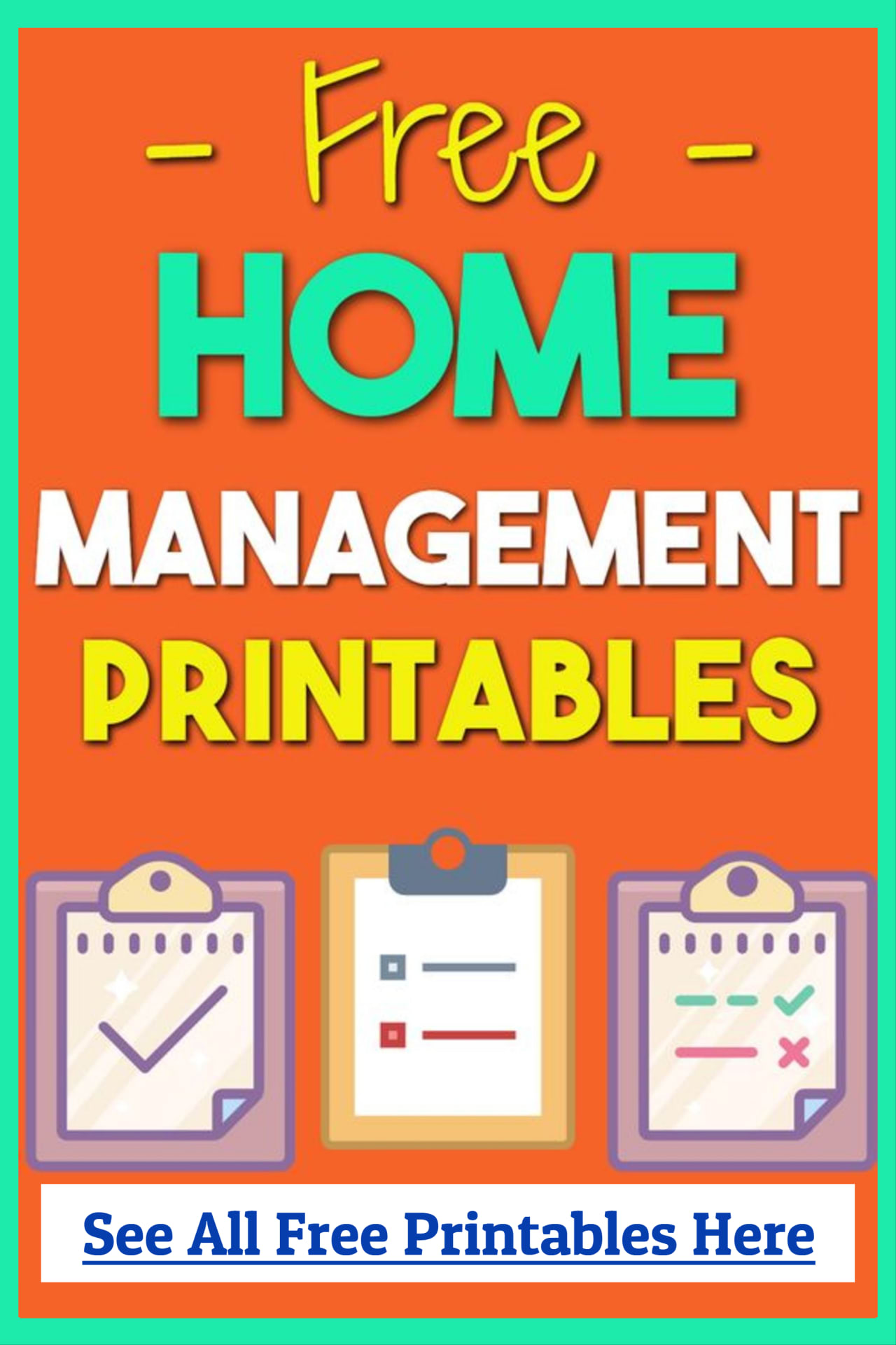 Home Management Binder Free Printables, worksheets, PDFs, logs and password keepers for your home management binder