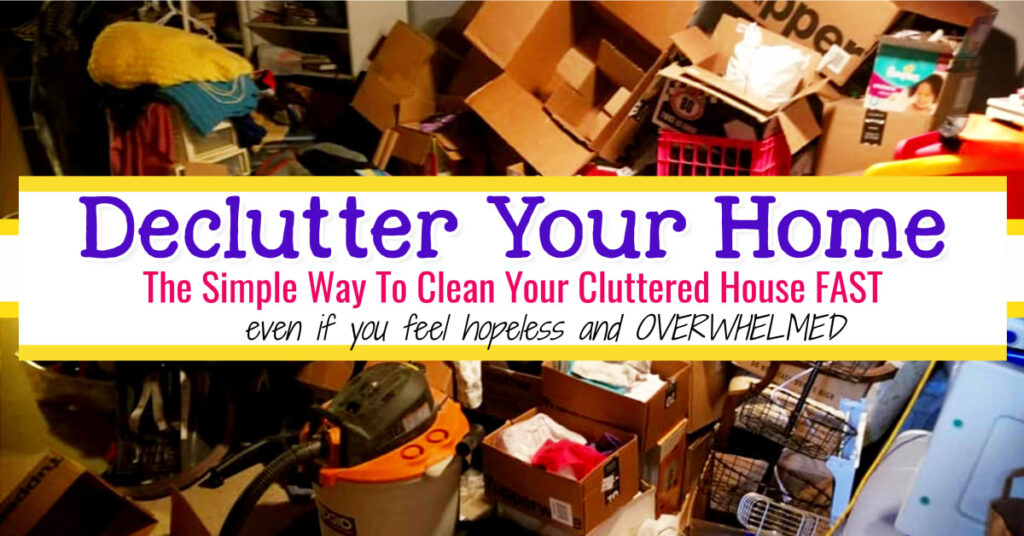 Declutter Your Home Plan Checklist Calendar and More For a Decluttering Challenge To Declutter Your Home