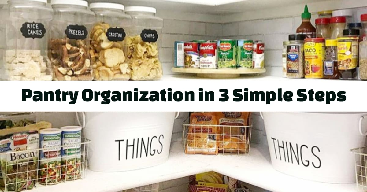 Pantry Organization Ideas - How To Organize Your Pantry In 3 Simple Steps from Decluttering Your Life