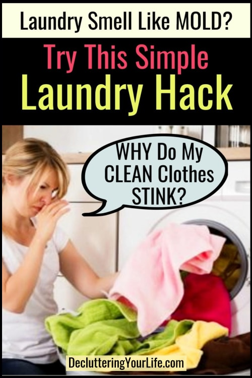 Does Your Clean Laundry Smell SOUR? Here's my sour laundry remedy. If your towels smell like mildew or you left wet clothes in the washer, here's the easy way to fix that SMELLY odor