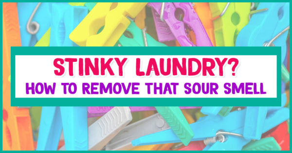Laundry HACKS! How to get that SOUR SMELL out of Laundry. If you towels smell like midlew, clothes smell sour or you forgot wet clothes in the washing machine overnight, here's how to fix that smell